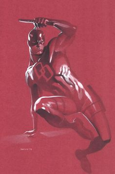 Marvel's Daredevil Comic Book Illustration by Artist Chris Stevens
