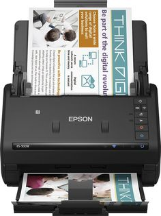 Epson - WorkForce ES-500W Wireless Document Scanner - Black