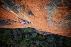 SASHA DIGIULIAN ::: She rocked the boat by being the first American woman to climb 9a (14d+) with Era Vella in Margalef, Spain. She's also a full-time student, so double props to her for pushing her physical--and mental--limits. Photo © Keith Ladzinski/Red Bull Content Pool