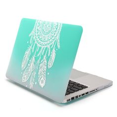 MacBook Pro 13 Case, GMYLE Hard Case Print Frosted for MacBook Pro 13 inch - Gradient Turquoise Dream Catcher Pattern Rubber Coated Hard Shell Case Cover (Not fit for MacBook Pro 13 inch Retina ) Macbook Pro Stickers, Macbook Pro Skin, Macbook Pro 13 Case, Macbook Pro 13 Inch, Mac Stickers, Apple Macbook 2017, Dream Catcher Patterns, Computer Case, Laptop Cases