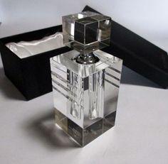 Orrefors Crystal Tall ICE Perfume Bottle NIB