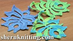How To Crochet Leaf Oval Shape Tutorial 12 - YouTube