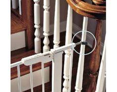 Baby gates on wrought iron railing?   Diy baby gate, Baby ...