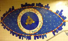New York subway, street New York Subway, Nyc Subway, Subway Art, Mosaic Art, Mosaics, Happy City, Magic Carpet, Fused Glass Art, Art Direction