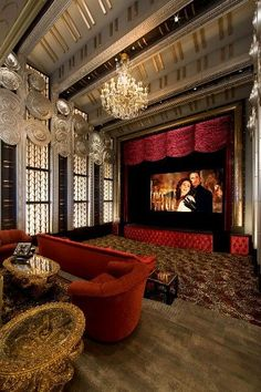 High Glam home Theater - MY ULTIMATE DREAM ROOM!!!! Always wanted this since I was little!!!