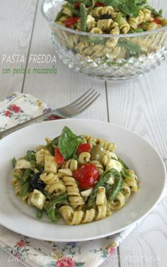 Pasta fredda con pesto e mozzarella - ricetta | cucina preDiletta