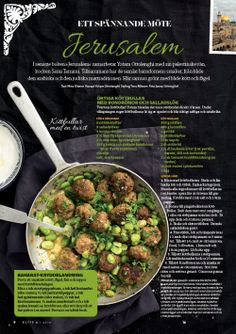 Ottolenghi story, Food magazine Buffé, sweden.