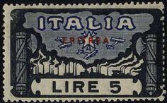 Italian Eritrea 1923, 6 val., U. + S. 65-70 / 175,-  Dealer Filatelia Monster  Auction Starting Price: 45.00 EUR