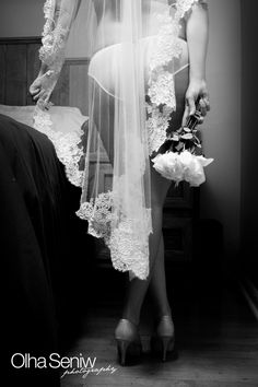 wedding lingerie bride photos