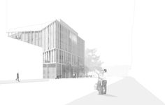View of proposed building from Southeast