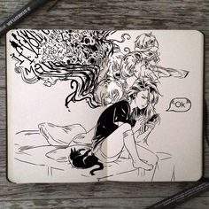(Gabriel Picolo) on deviantART Inspiration Art, Sketchbook Inspiration, Art Sketchbook, Art Inspo, Drawing Sketches, Cool Drawings, Gabriel Picolo, Art Du Croquis, Arte Horror
