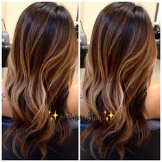 Fall hair trend| Brunette hair with caramel babylights | MUA.AshleyRenea