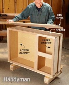 Make your own out of stock cabinets.  This might be a little too ambitious for me, but it sure is a cool idea!