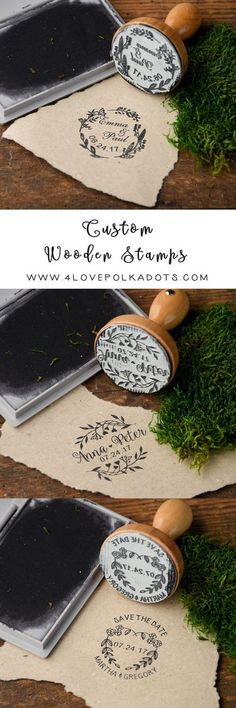 Rustic country wood wedding stamps #rusticwedding #countrywedding #weddingplanningdiy