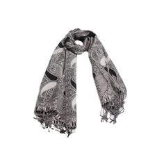 PASHIMINA ABSTRATA CINZA em tecido viscose com estampa abstrata nas cores cinza e preto. #pashimina #modafeminina #fashion #scarf #scarfs