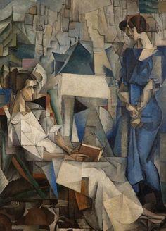 Diego Rivera painting, Dos Mujeres at the Arkansas Arts Center