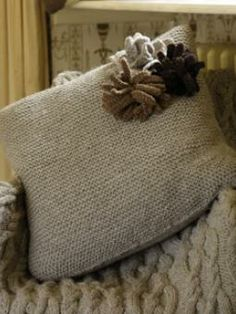 Corsage Cushion by Martin Storey free download (after registration) on KnitRowan.com at. Knitting Patterns ... & Knit a simple cushion cover free pattern | Cushion covers ... pillowsntoast.com