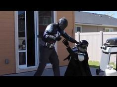 Arkham Knight vs Darth Vader   In Real Life!!   Superhero Fight!