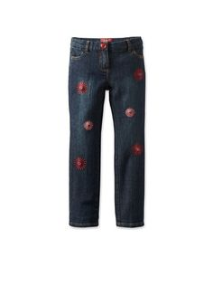 One Kid Girl's Embroidered Jeans