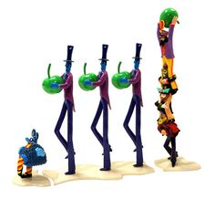Mary's WANT LIST:   Yellow Submarine Figures - Apple Bonkers with the 4 Beatles lead by a Blue Meanie
