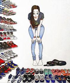 Sneakers artwork - Every Morning... (©Kim Jungyoun)