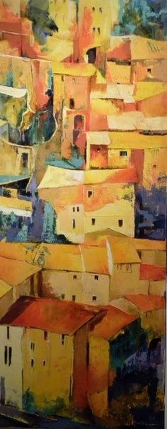 Michèle Carer Urban Painting, City Art, Les Oeuvres, Perspective, Art Ideas, Photos, Window, Texture, Abstract