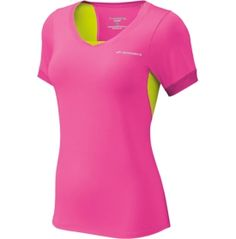 I like this top. Both of my signature colors. Mesh for breathability. In the 'running' (haha) for my PGH half outfit. Brook's Nightlife Equilibrium shirt available at Dick's.