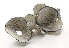 Kaori juzu Brooch. Enamel, copper, 14kt gold.