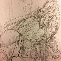 Skybourne comes face to face with his greatest and oldest enemy. Man, I love drawing dragons. Creature Concept Art, Creature Design, Creature Drawings, Animal Drawings, Fantasy Creatures, Mythical Creatures, Dragon Anatomy, Dragon Face, Beast Creature