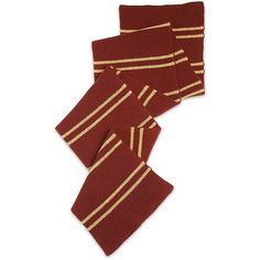 Harry Potter Gryffindor Scarf ($66) ❤ liked on Polyvore featuring accessories, scarves, harry potter and gryffindor