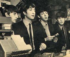 Ringo Starr, John Lennon, Paul McCartney, and George Harrison (Source…