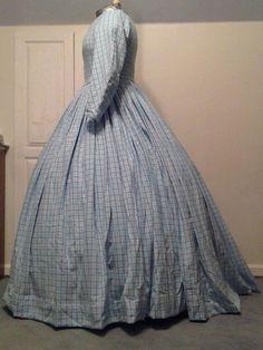 Flannel Civil War dress