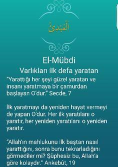 El-Mübdi Allah, Quotes