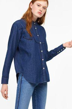 Denim Shirt with Western Details