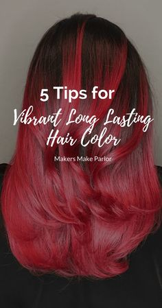Vibrant Hair Color is so beautiful but can be a bit of a pain to keep bright for long periods of time. Use these 5 tips that professional hairstylist Rachel from Makers Make Parlor in San Francisco tells her personal clients to do to keep their hair color Hair Color Caramel, Ombre Hair Color, Hair Color Balayage, Hair Colour, Golden Brown Hair Color, Brown Hair Colors, Summer Hairstyles, Cool Hairstyles, Vibrant Hair Colors