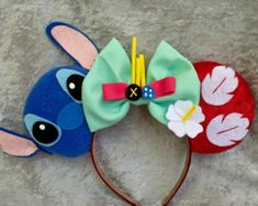 lilo and stitch mickey mouse ears – Etsy