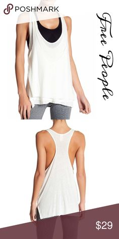d670545e1a0d8 We the Free Ivory tank top Triple layers at front of this Free People Tank  Racer