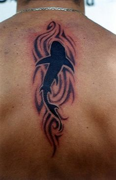 tribal shark tattoo | sharks / shark tatoo