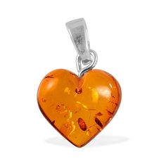 Liquidation Channel   Baltic Honey Amber Pendant in Sterling Silver (Nickel Free)