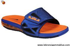 Buy Cheap Nike Air LeBron 2 Slide Elite 578251 460 Hyper Blue Bright Citrus Blackened Blue Superhero For Sale