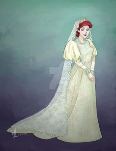 Princesas Disney com roupas de noiva históricas | Just Lia