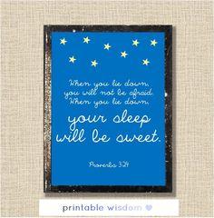 Nursery Bible verse print Christian scripture by PrintableWisdom