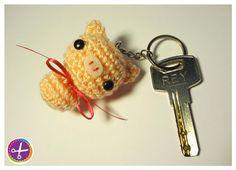 Keychain Pig Amigurumi by HinaPalitah on Etsy~