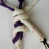 tying soft hackamore step 5