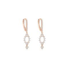 Monroe earrings pink gold and diamonds