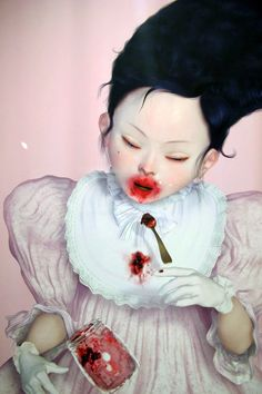 Artwork © by Ray Caesar Ray Caesar, Illustrations, Illustration Art, Beautiful And Twisted, Scary Art, Baby Drawing, Goth Art, Lowbrow Art, Pop Surrealism