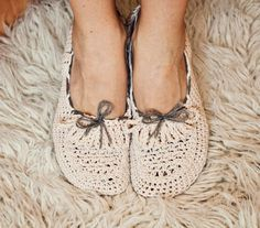 Crochet Ladies Loafers Pattern