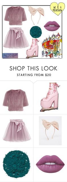 """Melanie Martinez Carousel"" by fdalwah ❤ liked on Polyvore featuring Shrimps, Y.R.U., Little Wardrobe London, Johnny Loves Rosie, Illamasqua, Lime Crime, celebrities, carousel and melaniemartinez"