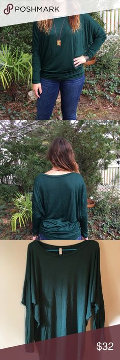 Green Long sleeve Soft and comfy top Tight in the bottom and loose in the top Never been worn before Tops Tees - Long Sleeve