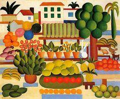 A Feira II - Tarsila do Amaral - Pintora Brasileira